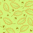 Stock vektor: Seamless pattern witk oak leaves