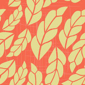 Seamless pattern with yellow leaves — Stock Vector