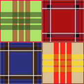 Set of seamless plaid fabric patterns — Stock Vector