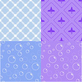 Set of seamless patterns — Vettoriale Stock