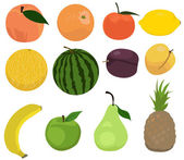 Set of fruits — Stock Vector