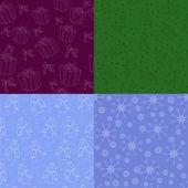 Set of christmas backgrounds — Stock Vector