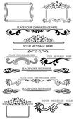 Set of calligraphic design elements 2 — Stock Vector