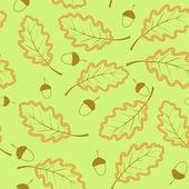 Foglie di quercia witk modello senza saldatura — Vettoriale Stock