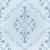 Seamless pattern with abstract ornate blue — Stock Vector