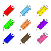Set of colorful pencils — Stock Vector