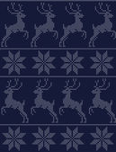 Scandinavian seamless pattern blue — Stock Vector