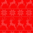 Scandinavian seamles pattern red — Stockvektor
