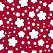 Red seamless pattern with flowers — Stock Vector
