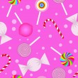 Seamless pattern with sweetmeats — Stockvectorbeeld