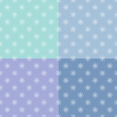 Set of seamless pattern with snowflakes — Stock Vector