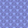 Seamless pattern with blue hearts — Stock Vector