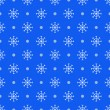 Stock Vector: Seamless blue pattern with snowflakes