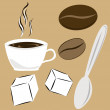 Stock Vector: Coffee attributes