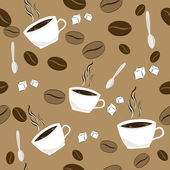 Seamless pattern with coffee — Stock Vector