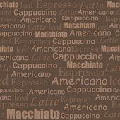 Káva bezešvé vzor — Stock vektor