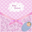 Vector de stock : Baby shower with boy