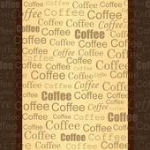 Seamless coffee ribbon — Stock Vector