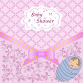 Baby shower with boy — Stock Vector