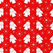 Christmas seamless pattern wih angels — Stock Vector