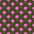 Stock Vector: Seamless pattern with pink roses