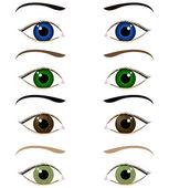Set di occhi del cartone animato — Vettoriale Stock