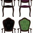 Set of vector chairs — Vektorgrafik