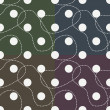 Royalty-Free Stock Vektorfiler: Set of semless retro polka dot patterns