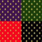 conjunto de patrones sin fisuras con elementos dorados — Vector de stock