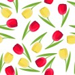 Seamless pattern with tulips — Stockvektor