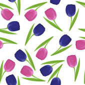Seamless pattern with tulips — Stok Vektör