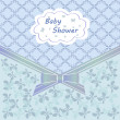 Baby shower blue — Vector de stock #15363701