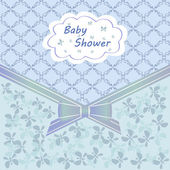 Baby shower blue — Vettoriale Stock