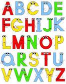 Funny alphabet — Stock Vector