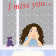 Stock Vector: I miss you