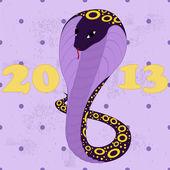 Violet snakes grunge — Stock Vector