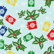 Gifts seamless pattern — Stockvektor