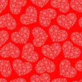 Red seamless pattern with hearts — Stock Vector
