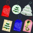 Christmas tags — Stock Vector #16628087