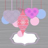 Nový rok pozadí s transparentem — Stock vektor