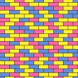 Colorful bricks — Stock Vector