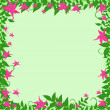 Stock Vector: Frame with pink flowers