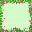 Frame with pink flowers — Stock Vector
