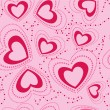 Seamless pattern with hearts — Stockvectorbeeld