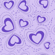 Seamless pattern with blue hearts — Stockvektor
