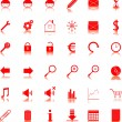 Web icons — Vector de stock #18670187