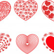 Set of red hearts — Stock Vector #19464425
