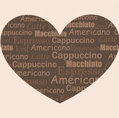 Love coffee — Stock Vector