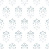 White damask pattern — Stock Vector