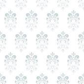 White damask pattern — Stock Vector